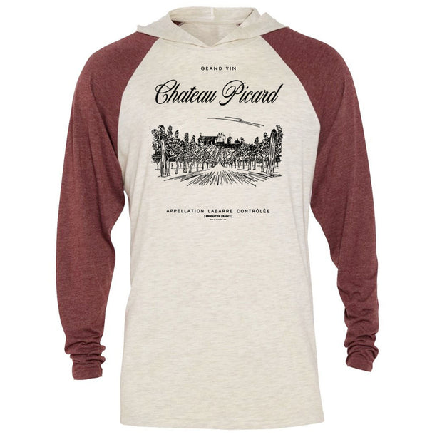 Star Trek: Picard Chateau Picard Vineyard Logo Tri-Blend Raglan Hoodie | Official CBS Entertainment Store