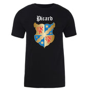 Star Trek: Picard Coat of Arms Picard Family Forever Adult Short Sleeve T-Shirt | Official CBS Entertainment Store