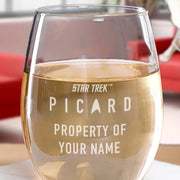 Star Trek: Picard Property Of Personalized Stemless Wine Glass | Official CBS Entertainment Store
