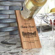 Star Trek: Picard Chateau Picard Vineyard Logo Wooden Wine Bottle Holder | Official CBS Entertainment Store