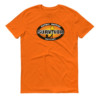 Survivor Outwit, Outplay, Outlast Logo Adult Short Sleeve T-Shirt