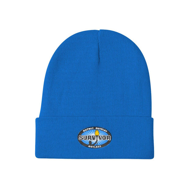 Survivor Outwit, Outplay, Outlast Embroidered Beanie | Official CBS Entertainment Store