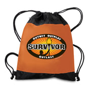 Survivor Outwit, Outplay, Outlast Logo Drawstring Bag