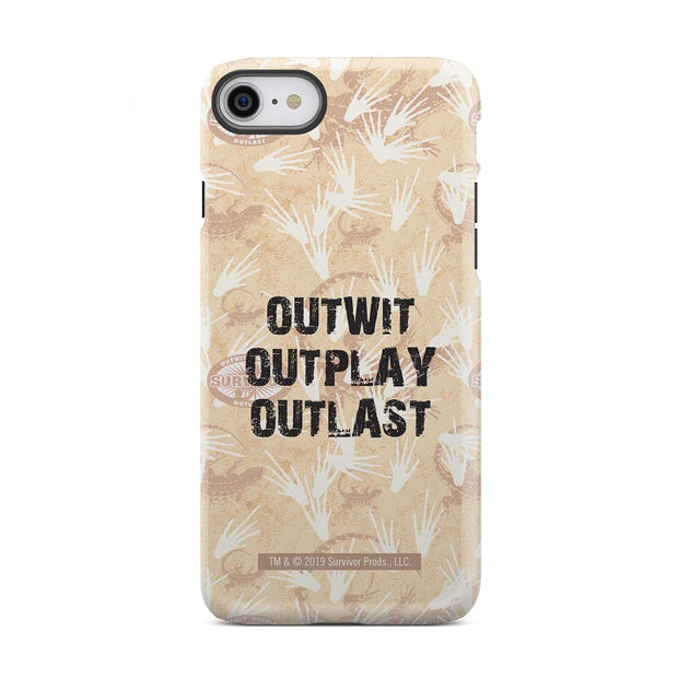 Survivor Outwit, Outplay, Outlast Tough Phone Case