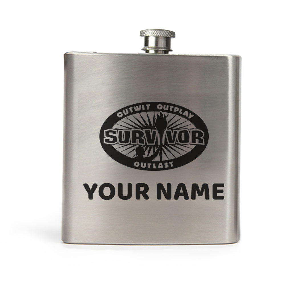 Survivor Outwit Outplay Outlast Personalized Flask