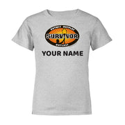 Survivor Outwit, Outplay, Outlast Personalized Toddler Short Sleeve T-Shirt | Official CBS Entertainment Store