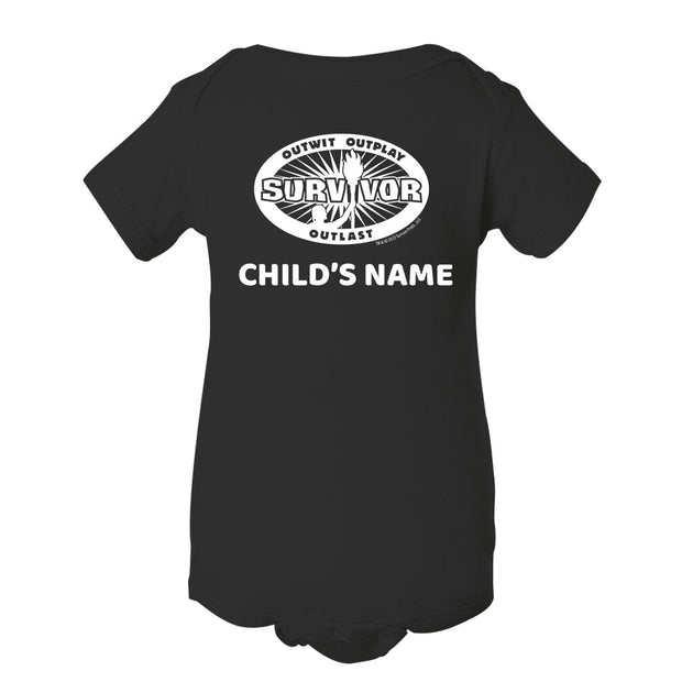 Survivor Outwit, Outplay, Outlast Personalized Baby Bodysuit | Official CBS Entertainment Store