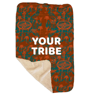 "Survivor Personalized Sherpa Blanket - 37"" x 57"" 