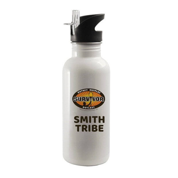 Survivor Outwit, Outplay, Outlast Logo Personalized Water Bottle | Official CBS Entertainment Store