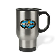 Survivor Outwit, Outplay, Outlast Logo Travel Mug