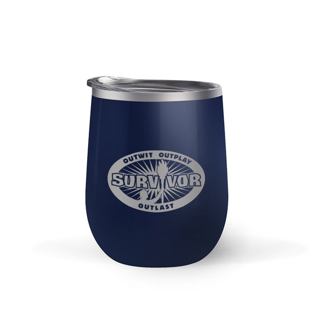 Survivor Outwit, Outplay, Outlast 12 oz Wine Tumbler