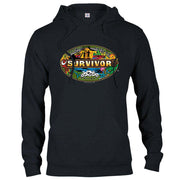 Survivor Mashup Logo Black Fleece Hooded Sweatshirt | Official CBS Entertainment Store
