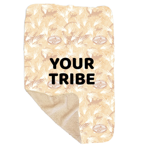"Survivor Terrain Personalized Sherpa Blanket - 37"" x 57"" 
