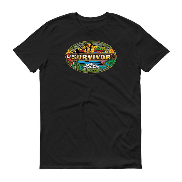 Survivor Mashup Logo Adult Short Sleeve T-Shirt