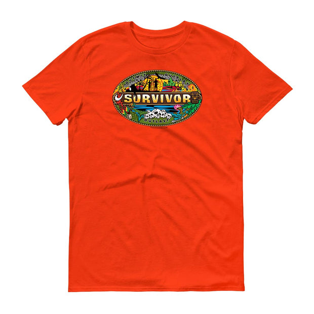 Survivor Mashup Logo Adult Short Sleeve T-Shirt | Official CBS Entertainment Store