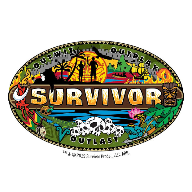 Survivor Mashup Logo Stainless Steel Water Bottle | Official CBS Entertainment Store
