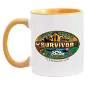 Survivor Mashup Logo Two Tone Mug | Official CBS Entertainment Store