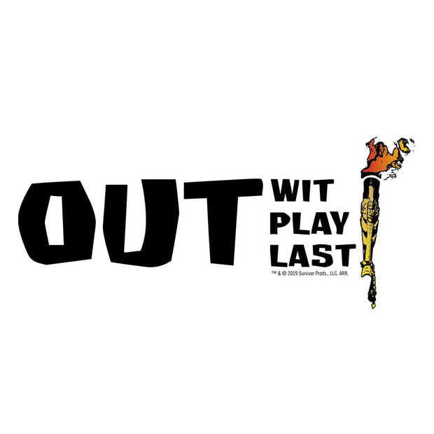 Survivor Out Wit, Play, Last Adult Short Sleeve T-Shirt