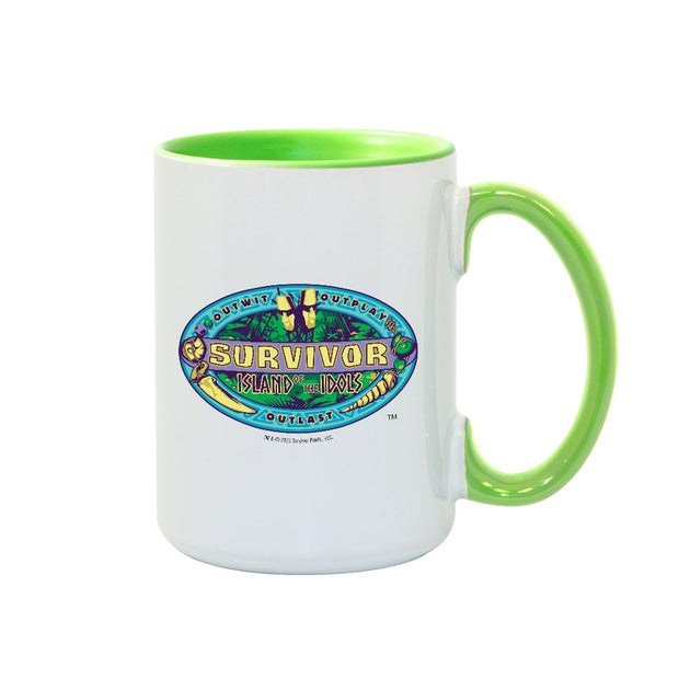 Survivor Season 39 Island Outwit, Outplay, Outlast Two Tone Mug | Official CBS Entertainment Store