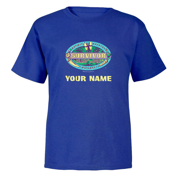 Survivor Season 39 Island of the Idols Personalized Kids Short Sleeve T-Shirt | Official CBS Entertainment Store