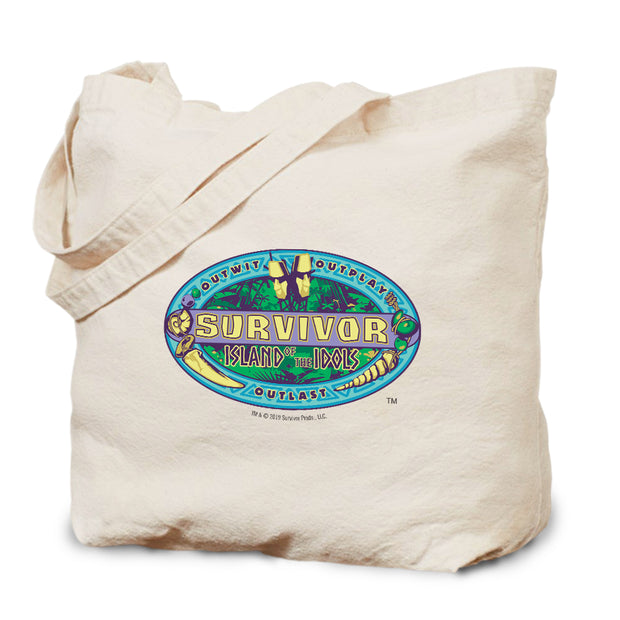 Survivor Season 39 Island of the Idols Canvas Tote Bag | Official CBS Entertainment Store