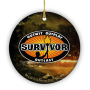 Survivor Outwit, Outplay, Outlast Logo Double Sided Ornament | Official CBS Entertainment Store