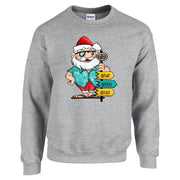 Survivor Tropical Santa Fleece Crewneck Sweatshirt