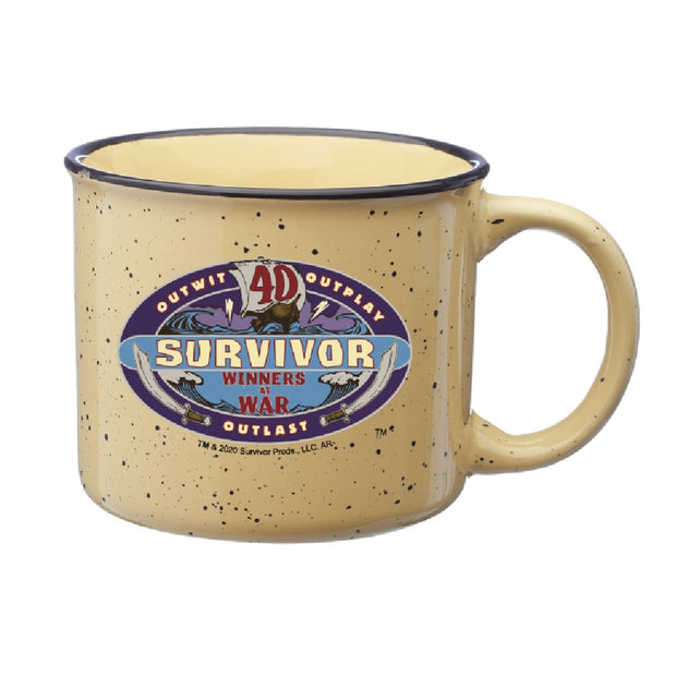 Survivor Season 40 Winners at War Logo Campfire Mug | Official CBS Entertainment Store