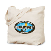 Survivor Outwit, Outplay, Outlast Logo Canvas Tote Bag | Official CBS Entertainment Store