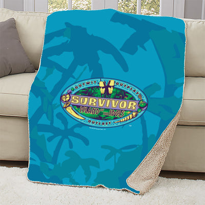 Survivor Season 39 Island of the Idols Sherpa Blanket | Official CBS Entertainment Store