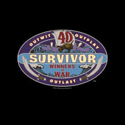 Survivor Season 40 Winners at War Logo Sherpa Blanket