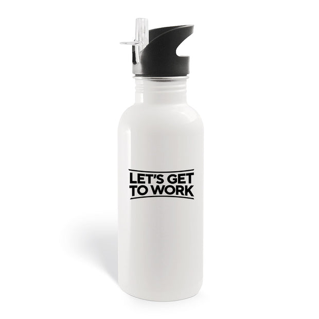 Tough As Nails Let's Get to Work 20 oz Screw Top Water Bottle with Straw