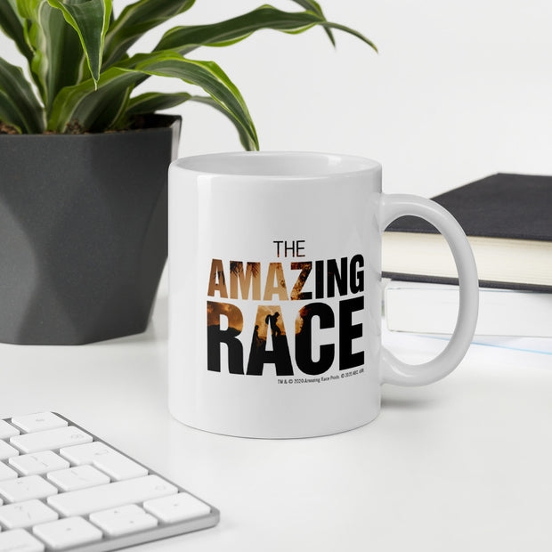 The Amazing Race One Million Miles White Mug | Official CBS Entertainment Store