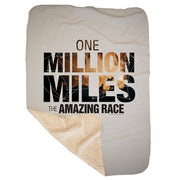 The Amazing Race One Million Miles Sherpa Blanket | Official CBS Entertainment Store