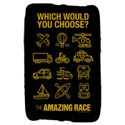 The Amazing Race Choose Your Adventure Sherpa Blanket | Official CBS Entertainment Store