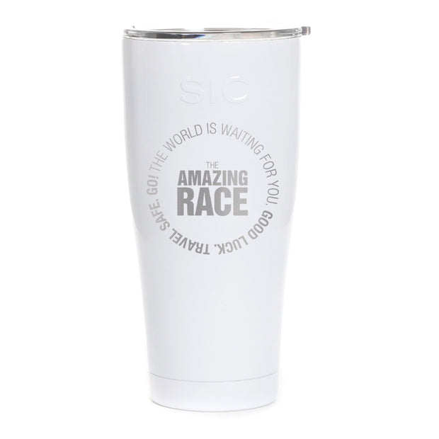 The Amazing Race Starting Badge Laser Engraved SIC Tumbler | Official CBS Entertainment Store