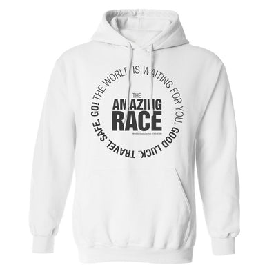 The Amazing Race Black Starting Badge Fleece Hooded Sweatshirt | Official CBS Entertainment Store