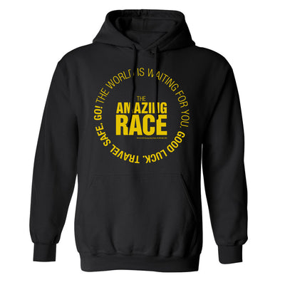 The Amazing Race Yellow Starting Badge Fleece Hooded Sweatshirt | Official CBS Entertainment Store