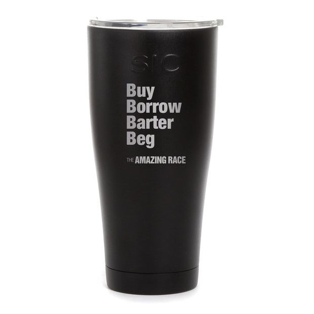 The Amazing Race Barter Laser Engraved SIC Tumbler | Official CBS Entertainment Store