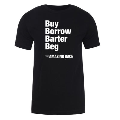 The Amazing Race White Barter Adult Short Sleeve T-Shirt | Official CBS Entertainment Store
