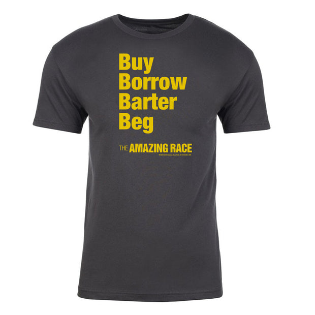 The Amazing Race Yellow Barter Adult Short Sleeve T-Shirt | Official CBS Entertainment Store