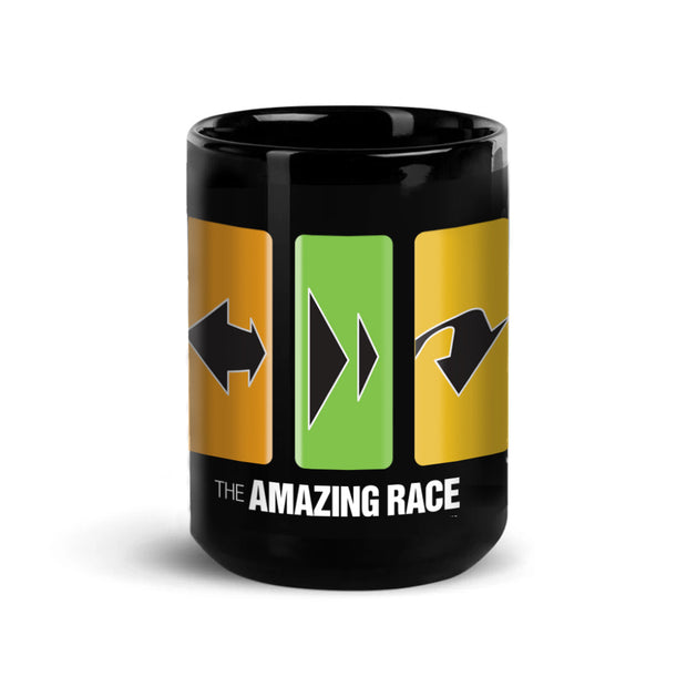 The Amazing Race Race Clues Black Mug | Official CBS Entertainment Store