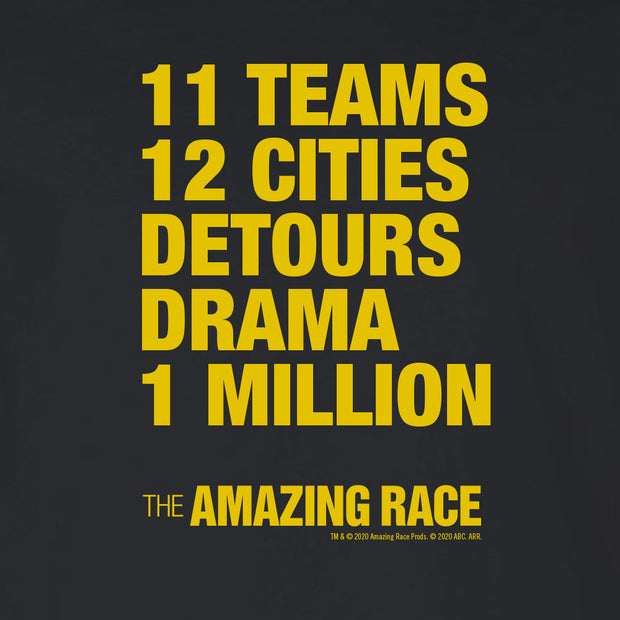The Amazing Race Yellow Detours Adult Long Sleeve T-Shirt | Official CBS Entertainment Store