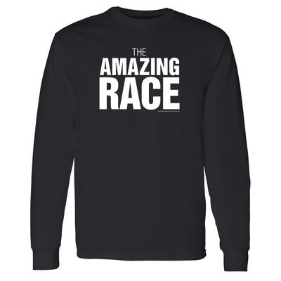 The Amazing Race One Color Logo Adult Long Sleeve T-Shirt | Official CBS Entertainment Store