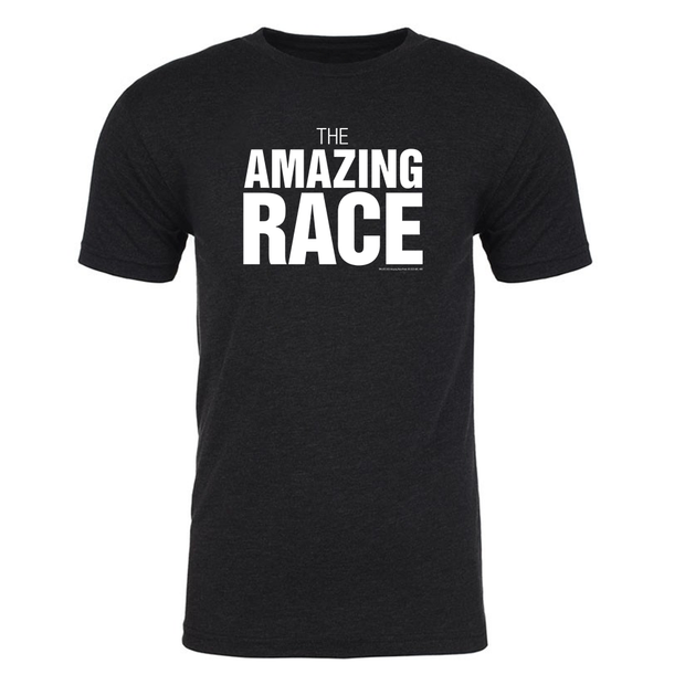The Amazing Race One Color Logo Men's Tri-Blend T-Shirt | Official CBS Entertainment Store