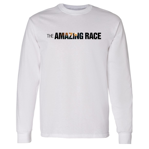 The Amazing Race Horizontal Color Logo Adult Long Sleeve T-Shirt | Official CBS Entertainment Store