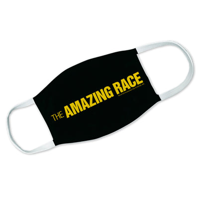 The Amazing Race Yellow Logo Washable Face Mask | Official CBS Entertainment Store