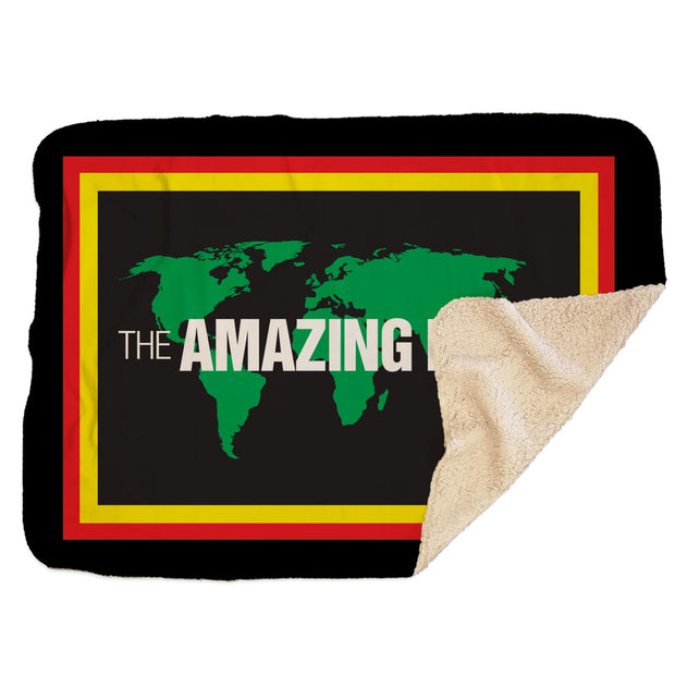 The Amazing Race Pit Stop Sherpa Blanket | Official CBS Entertainment Store