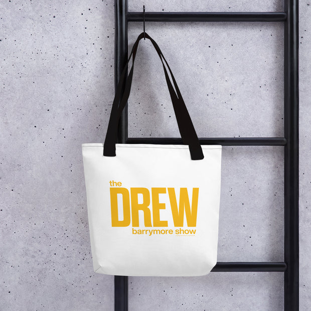 The Drew Barrymore Show Logo White Premium Tote Bag