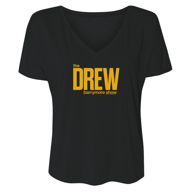 The Drew Barrymore Show The Drew Barrymore Show Women's Relaxed V-Neck T-Shirt | Official CBS Entertainment Store